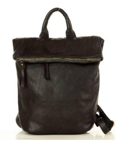 Czarny plecak skórzany miejski Mazzini
