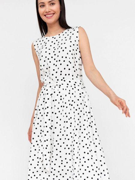 Свободное белое расклешенное платье Finn Flare
