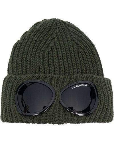 Шерстяная шапка бини - зеленая C.p. Company