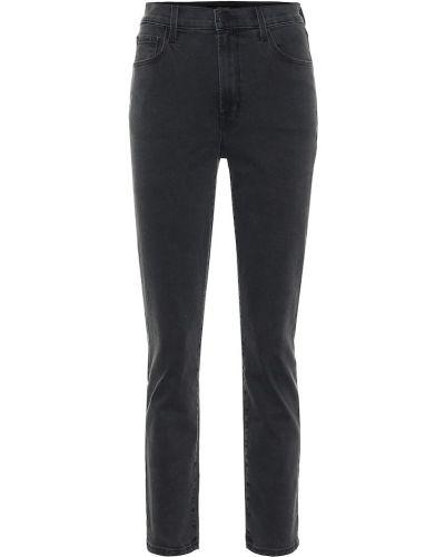 Прямые ватные хлопковые черные прямые джинсы J Brand