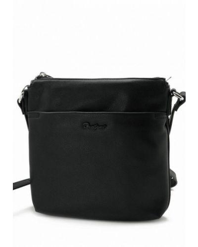 Кожаная сумка через плечо - черная David Jones