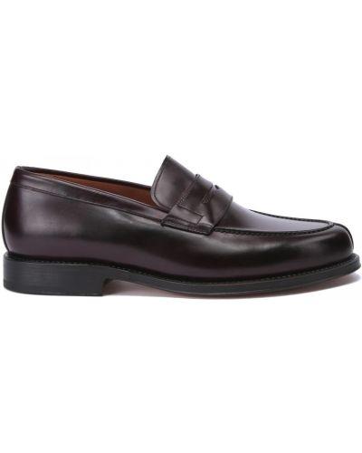 Кожаные красные туфли закрытые Franceschetti