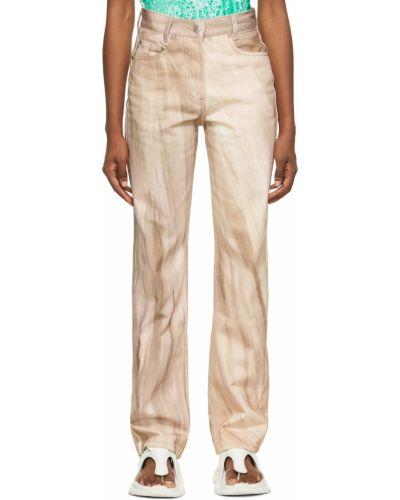 Mom jeans srebrne - beżowe Serapis