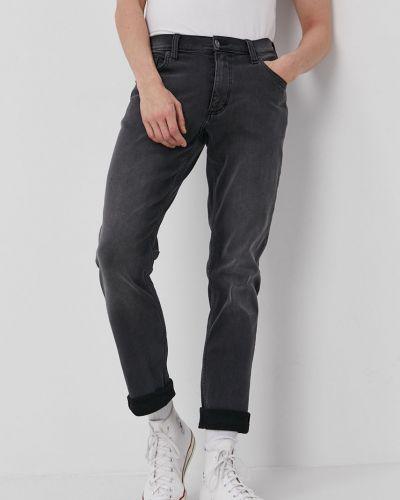 Szare jeansy bawełniane Mustang