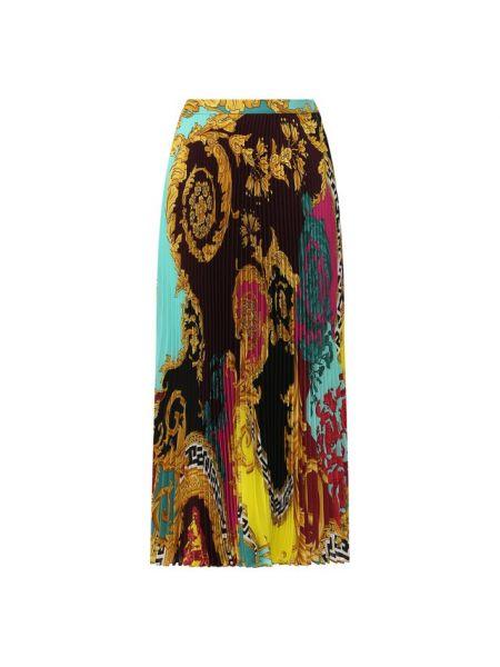 Плиссированная юбка миди шелковая Versace