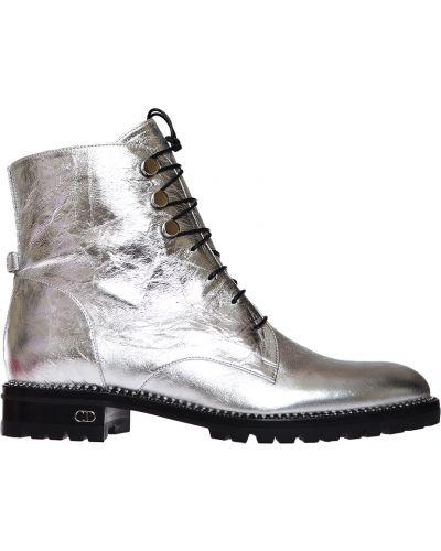 Кожаные ботинки - серебряные Christian Dior