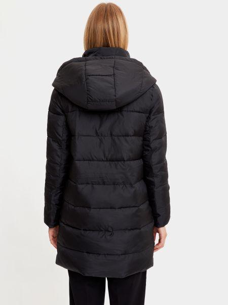Черная куртка с капюшоном на молнии Defacto