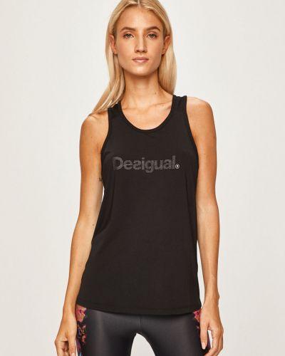Черная спортивная футболка с аппликациями Desigual Sport
