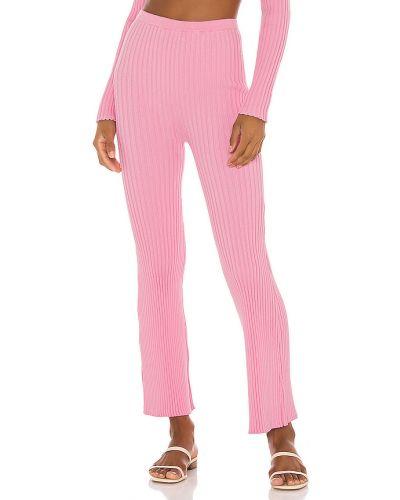 Bawełna z wysokim stanem różowy majtki w połowie kolana Callahan
