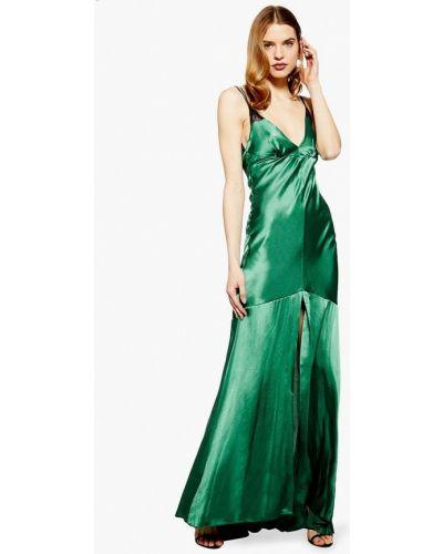 Вечернее платье весеннее зеленый Topshop