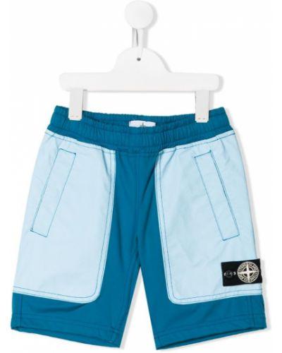 Плавки синие с карманами Stone Island Junior