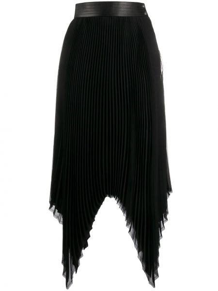 Плиссированная юбка - черная Loewe