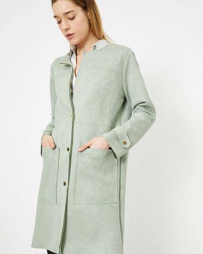 Зеленое демисезонное пальто Koton