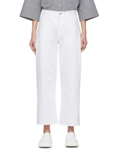 Niebieski prosto jeansy do kostek z kieszeniami Studio Nicholson