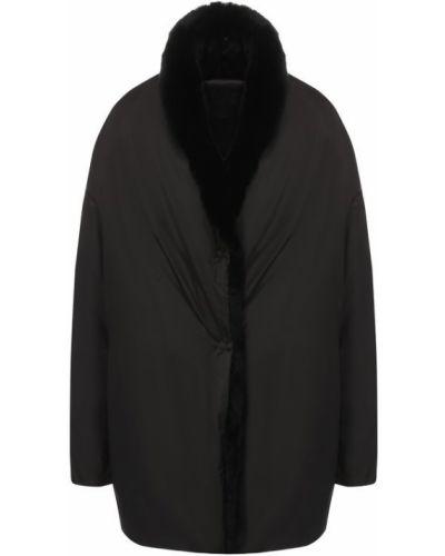 Куртка черная из кролика Tegin