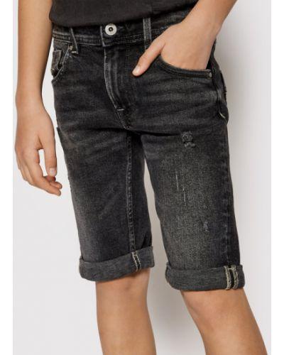 Szorty jeansowe - czarne Pepe Jeans