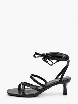 Черные босоножки летние Ideal Shoes®