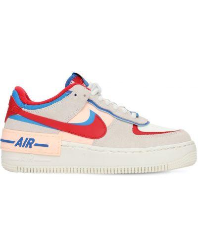 Skórzany koronkowa sneakersy na sznurowadłach Nike