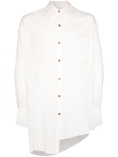 Biała koszula asymetryczna Sulvam