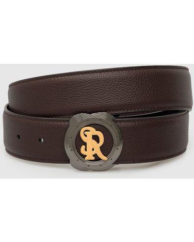 Кожаный ремень - коричневый Stefano Ricci