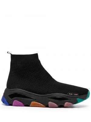Czarne buty sportowe na obcasie Kurt Geiger London