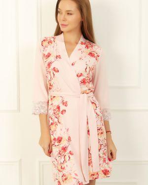 Домашний халат с поясом с запахом из вискозы Lika Dress