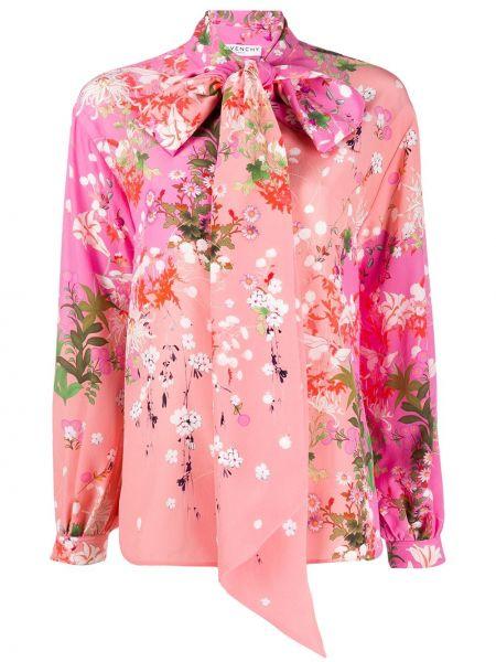 Bluzka z długim rękawem w kwiatowe wzory długa Givenchy