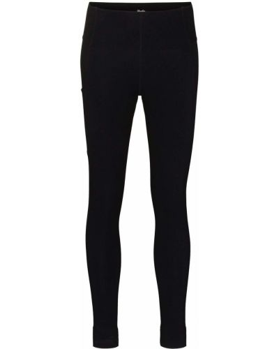 Czarne legginsy z wysokim stanem z nylonu Rapha