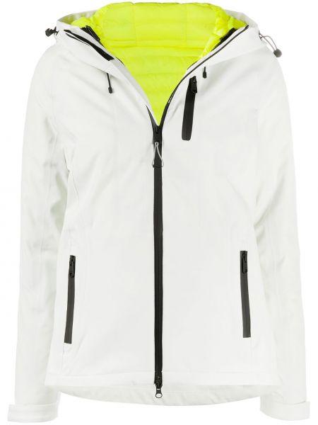 С рукавами водонепроницаемая белая куртка на молнии Ecoalf
