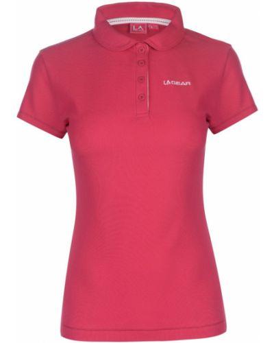 Różowa koszula bawełniana krótki rękaw La Gear