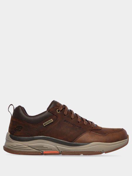 Кожаные кроссовки - коричневые Skechers