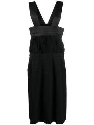 Шерстяное платье миди - черное Comme Des Garçons