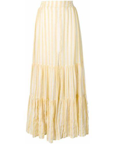 Приталенная ажурная желтая юбка макси Sundress