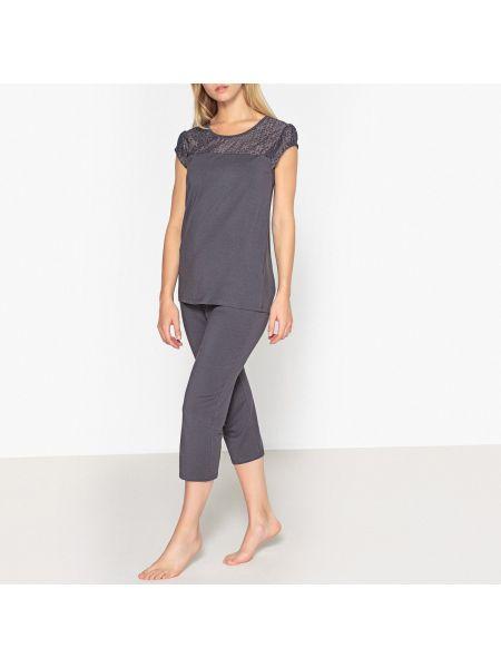 Пижама с шортами с короткими рукавами пижамный La Redoute Collections