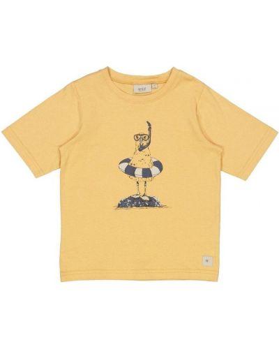 Żółta koszulka z printem Wheat