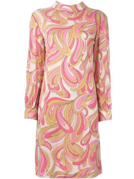 Прямое платье винтажное на пуговицах с воротником Emilio Pucci Pre-owned