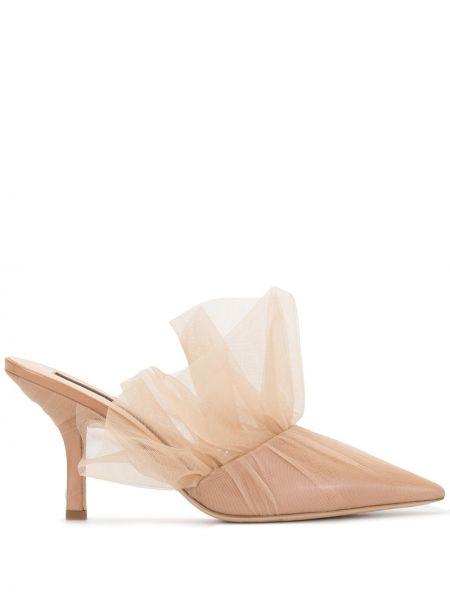 Открытые коричневые туфли на каблуке Midnight 00