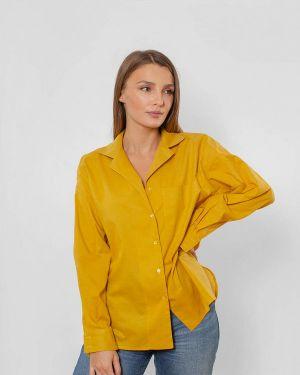 Желтая блузка с длинным рукавом Love Pam