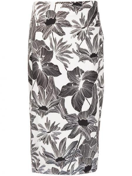 Облегающая шелковая черная юбка карандаш на молнии Dvf Diane Von Furstenberg
