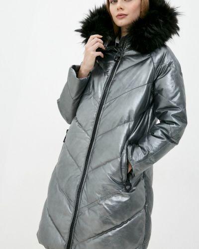 Серебряная кожаная куртка снежная королева
