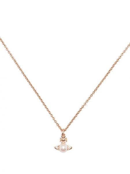 Ожерелье с жемчугом - розовое Vivienne Westwood