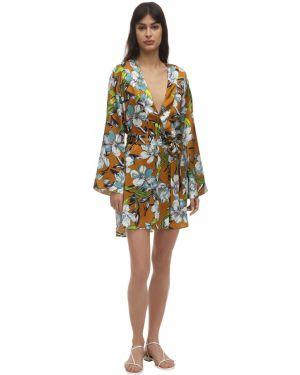 Платье с поясом с цветочным принтом кимоно Luna Di Seta
