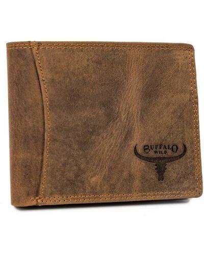Brązowy portfel na monety skórzany na co dzień Buffalo Wild