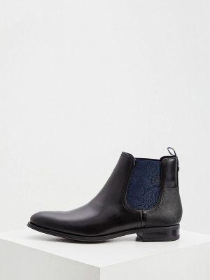 Кожаные ботинки челси - черные Ted Baker London