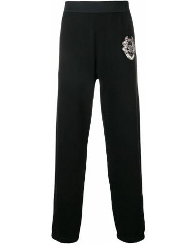 Черные спортивные брюки с поясом с манжетами Roberto Cavalli