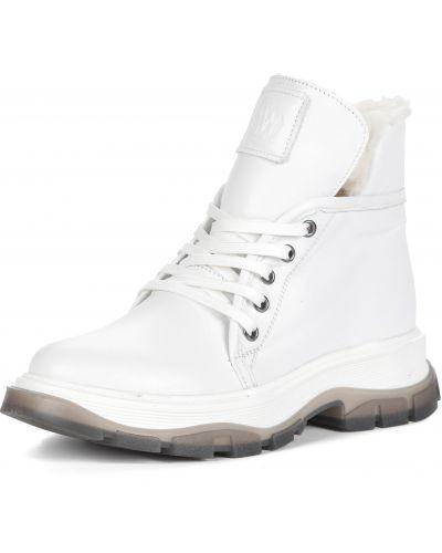 Кожаные ботинки - белые Respect