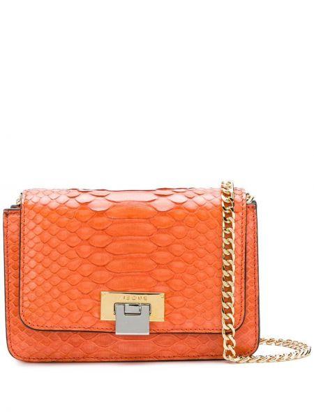 Pomarańczowa torebka crossbody skórzana Visone