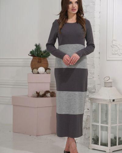 Платье серое шерстяное Vay