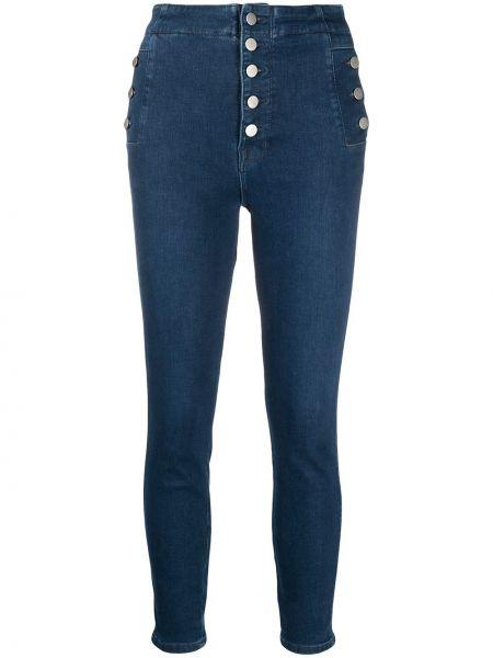 Bawełna bawełna obcisłe dżinsy z kieszeniami z łatami J-brand