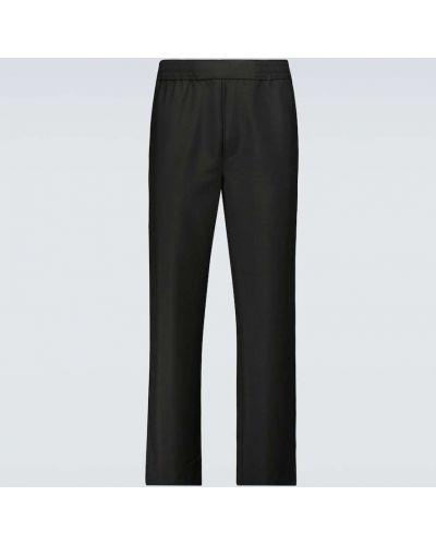 Czarne spodnie wełniane Acne Studios